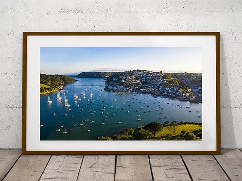 Salcombe estuary Aerial View Print