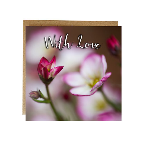 Flowery With Love Greeting Card