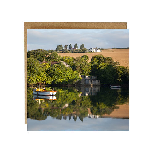 Boat on Salcombe Estuary  Greeting Card