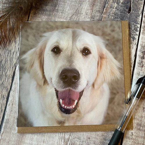 Golden Retriever Greeting Card - The Happiest dog card