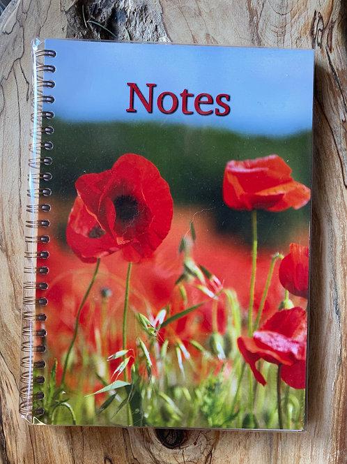 Poppy Notebook A5 plain page notebook