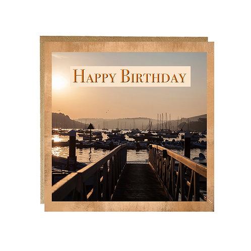 Happy Birthday card - Sunrise in Salcombe Birthday card