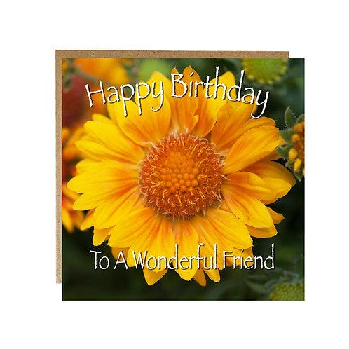 Happy Birthday To A Wonderful Friend card