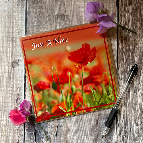 Just a Note - Poppy Greeting Card