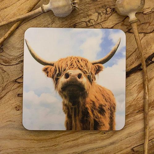 Beautiful Highland Cow Drinks Coasters