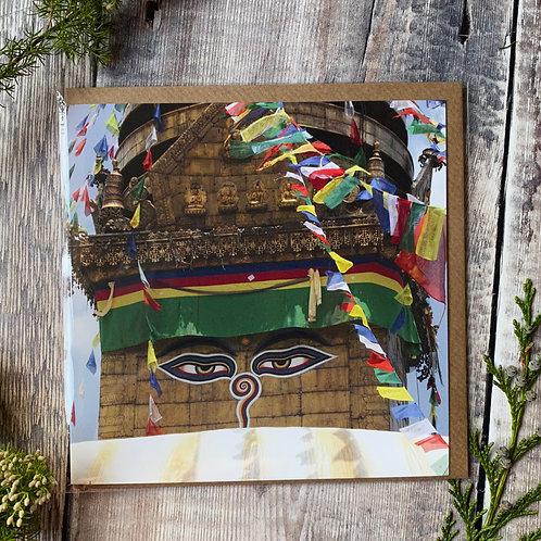 Boudhanath Stupa - Kathmandu Greeting Card