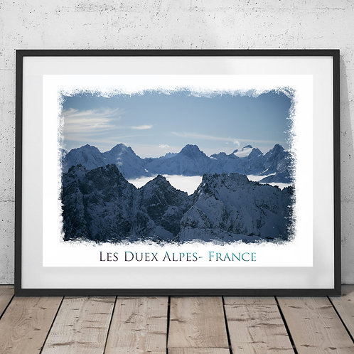 Les Duex Alpes France Print - Mountain peaks