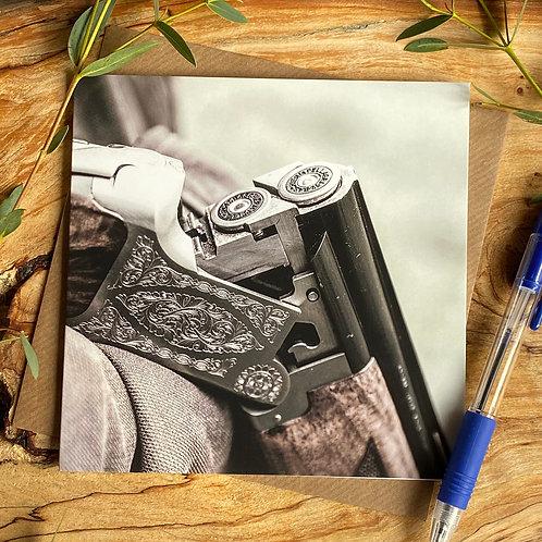Loaded and Ready - Shotgun greeting card