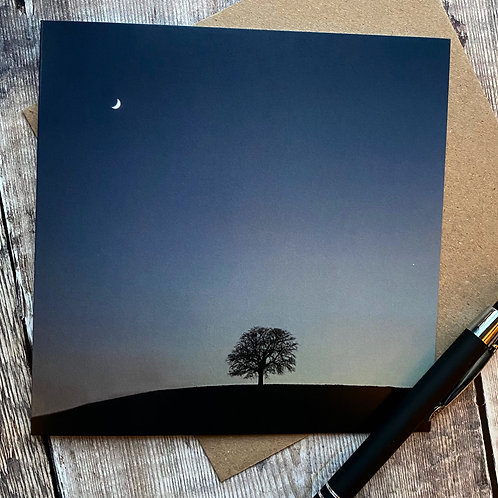 Alone on a Hill greeting card