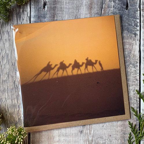 Shadow of A Camel Train - Greeting Card