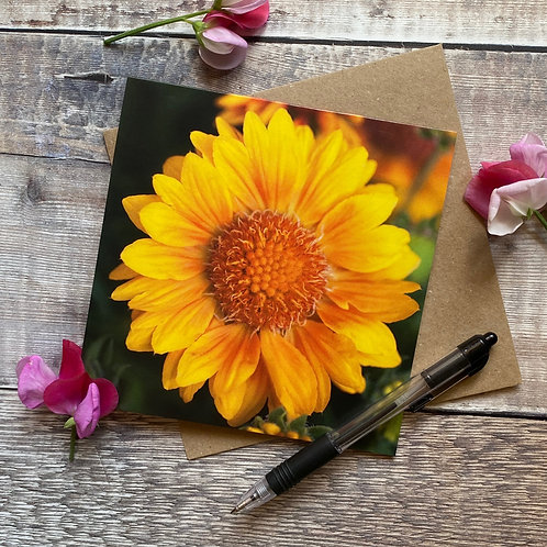 Bright Yellow Floral Greeting card