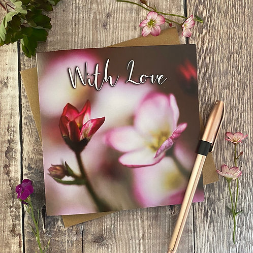 Pretty pink flowers Greeting Card