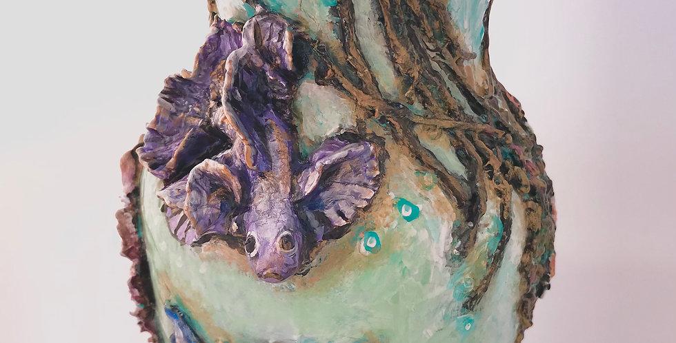 Rebecca Amburgey Hand Painted Beta Vase