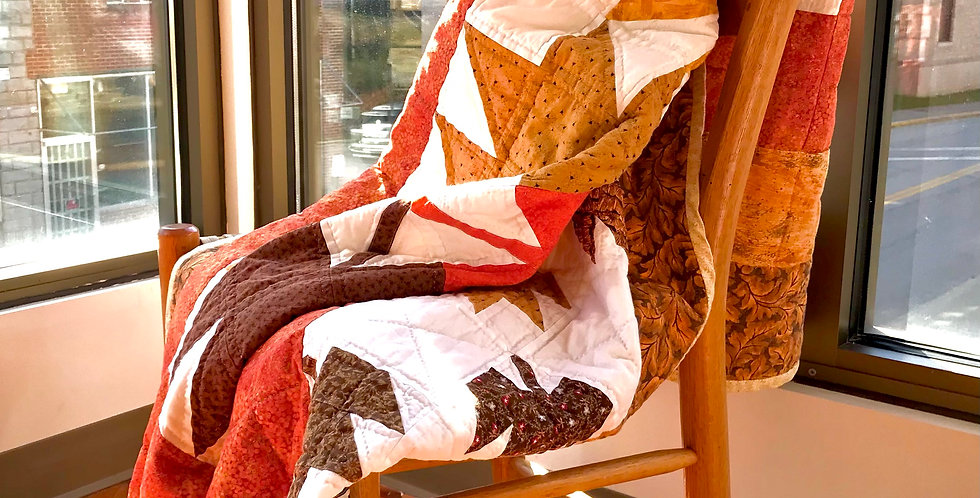 Girdalee Adams Fall Leaves Quilted Throw 5668