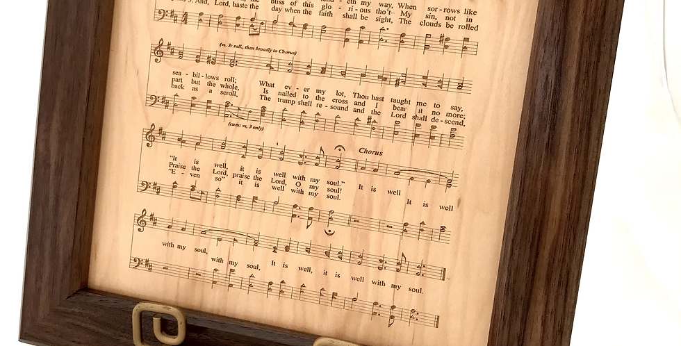 John Marcum 12x12 Large Hymn Plaque 4448