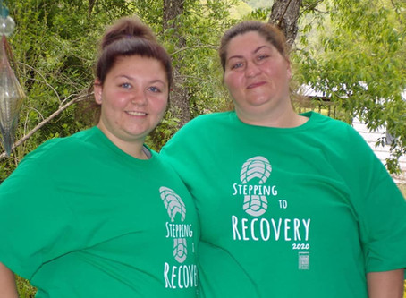 Stepping to Recovery Walkathon Raises over $850 for Recovery Literature