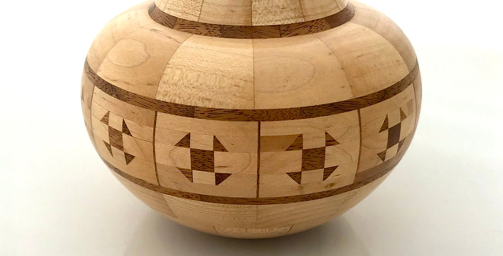 Jim Harrison Maple Vessel with Walnut Accents 4854
