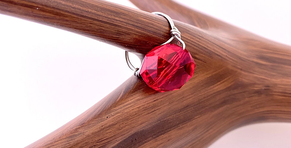 Red Wire Wrapped Rings Helen J Catron 5295