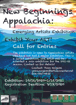 Calling for Appalachian Artists! Emerging Artist Exhibition: New Beginnings Appalachia