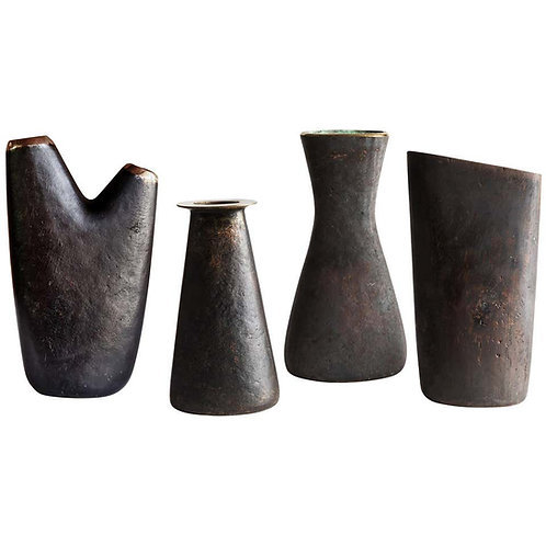 Grouping of Four Carl Auböck Brass Vases