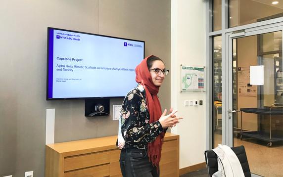Maria at her Capstone Presentation