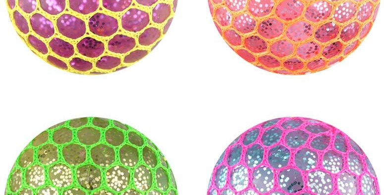 Mesh Squishy Ball -  Light Up