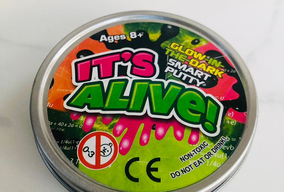 It's Alive! Glow Putty In Tin