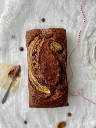 Pan de banano con chocolate