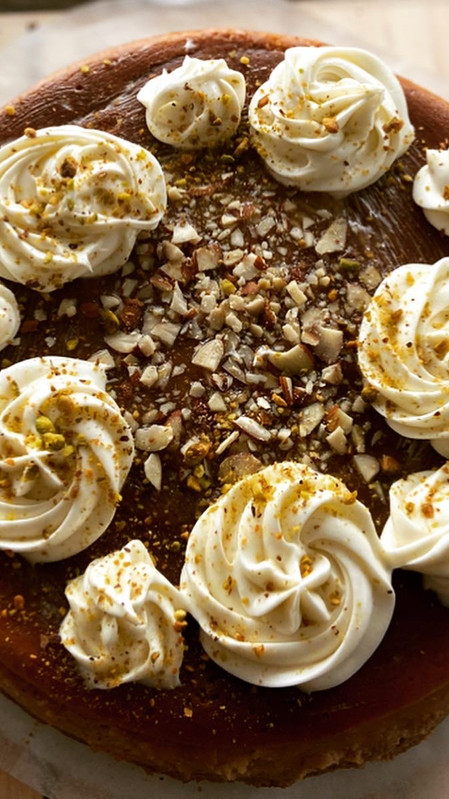 Cheesecake de calabaza y caramelo