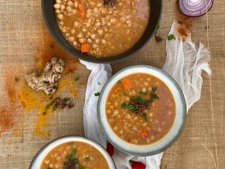 Sopa de garbanzo toscana