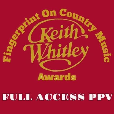 KEITH WHITLEY FINGERPRINTON COUNTRY MUSIC AWARDS SHOW FULL ACCESS