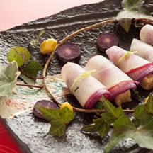 生麩と青菜の紫大根巻き.jpg