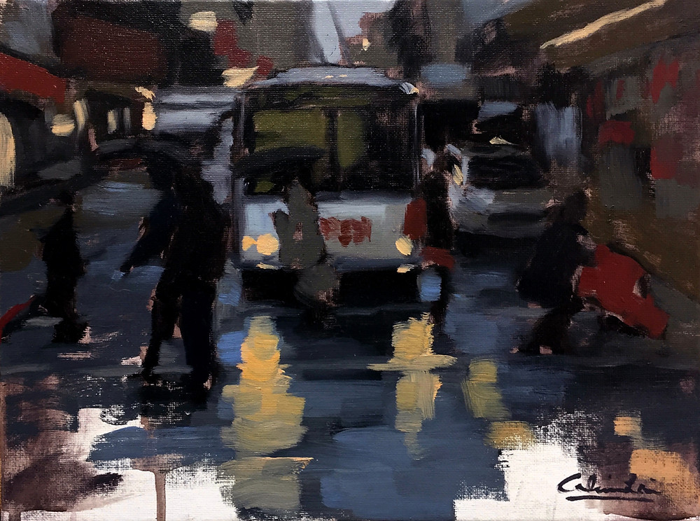 A Commission Portrait Artist Becomes One with Art | San Francisco cityscape artist