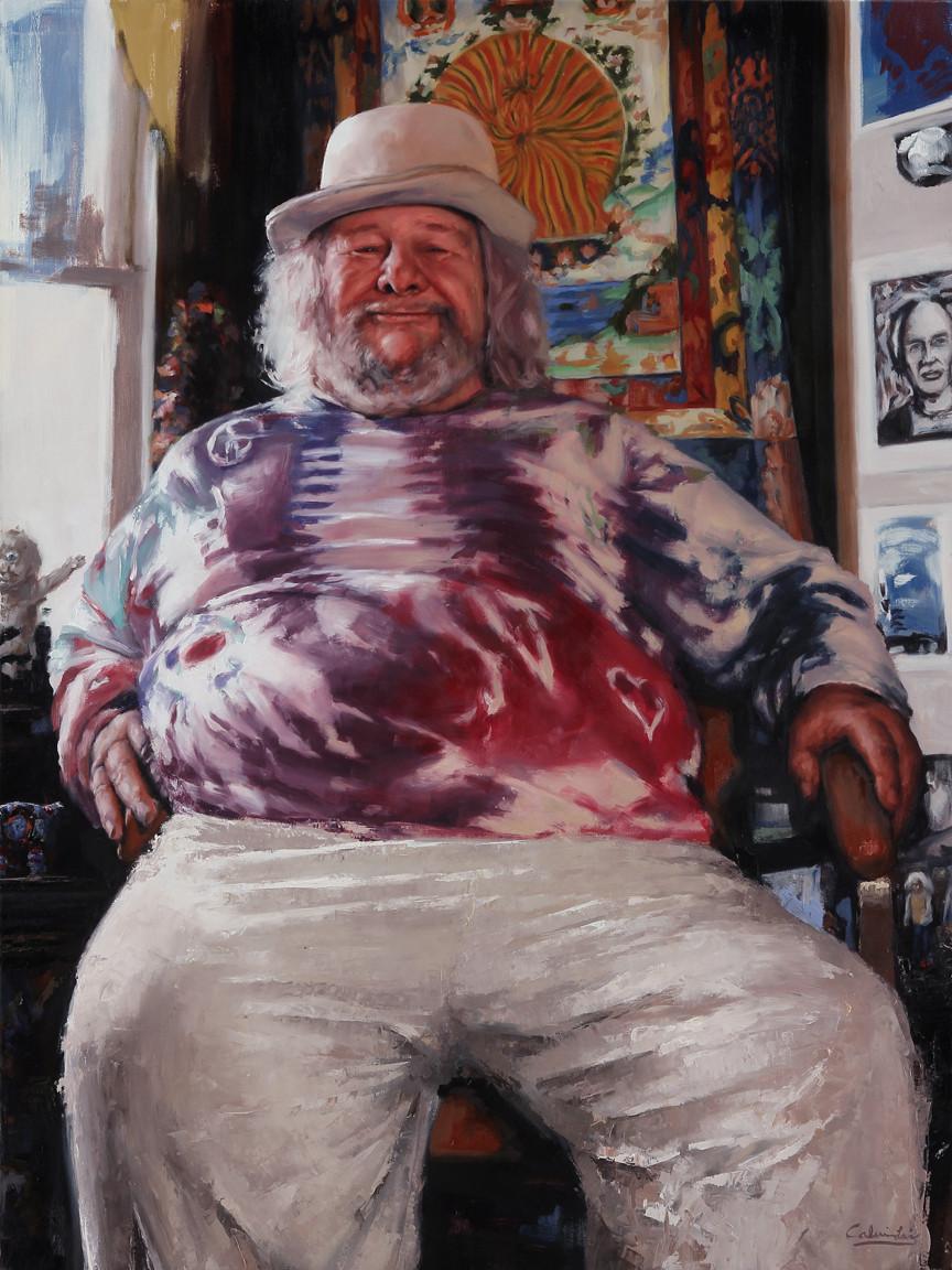 Commission Portrait Artist Paints Wavy Gravy