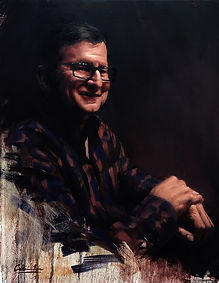 Professional artist, Calvin Lai, is a commission portrait artist who creates high quality oil paintings
