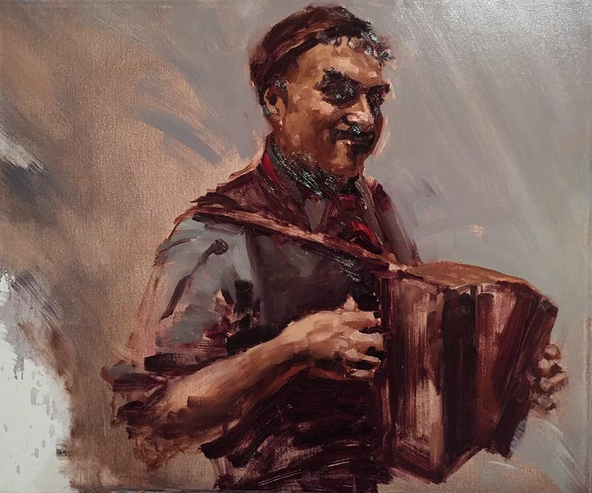 Artistic Evolution Through Portrait Painting | Half Clown, Half Pirate, Half Prince, Stage 1