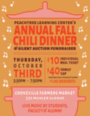 Peachtree Annual Chili Fundraiser Flyer.