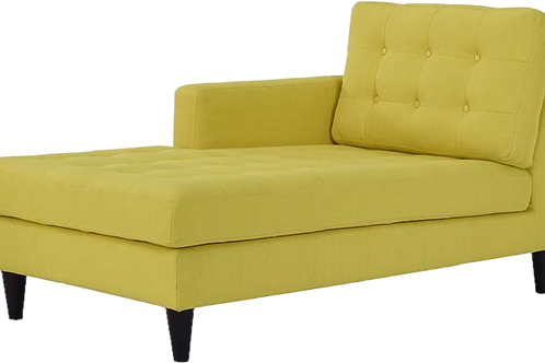 Right-Arm Upholstered Fabric Chaise in Sunny