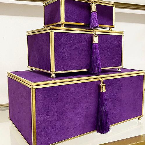 Velveteen Tassel Box Set in Purple