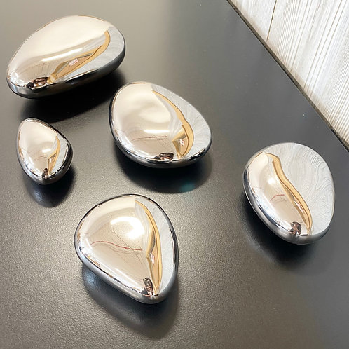 Ceramic Stones in Silver