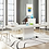 Thumbnail: Expandable Dining Table in White Silver