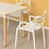 Thumbnail: Twisted Dining Armchair in White
