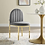 Thumbnail: Tufted Upholstered Side Chair in Gray