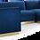 Thumbnail: 3 Piece Performance Velvet Sectional Sofa Set in Navy