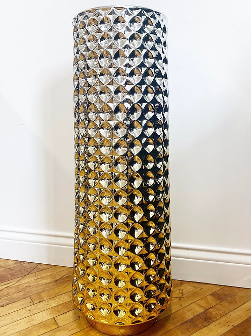 Silver and Gold Ombre Vase