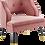 Thumbnail: Open Back Performance Velvet Armchair in Dusty Rose