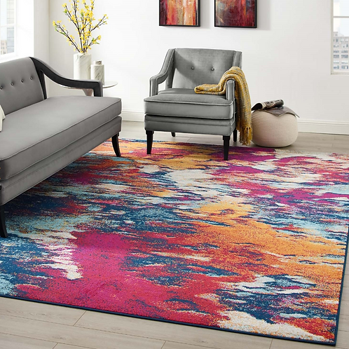 Foliage Contemporary Modern Abstract Area Rug