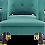 Thumbnail: Button Tufted Open Back Performance Velvet Armchair in Teal
