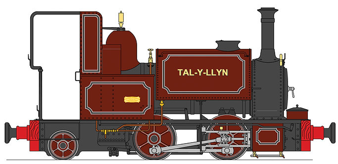 S19-35B Talyllyn 0-4-2ST, Indian Furness Red, 45mm gauge, Live Steam