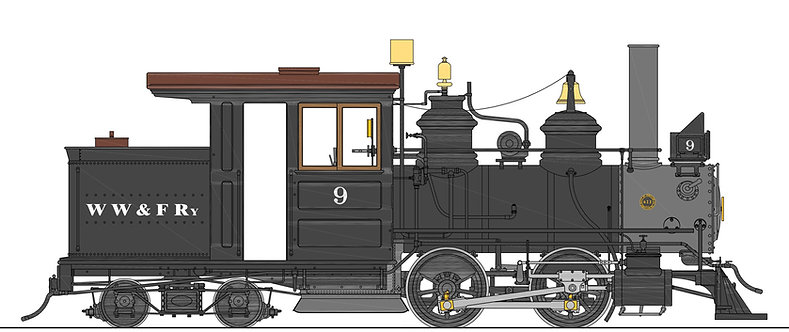 B77-572C WW&F Forney #9, Coal Fired